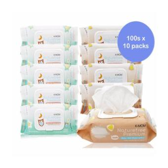 Harga K-Mom Organic Premium Wipes with Lid (100s x 10)