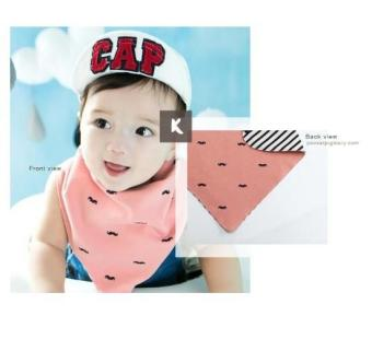 Harga Korean fashion Premium Triangle Reversible Bibs for Baby A321 K