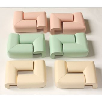 Harga 8pcs Soft Baby Safe Cushion Protector Table Desk Corner Protective Cover (Green)
