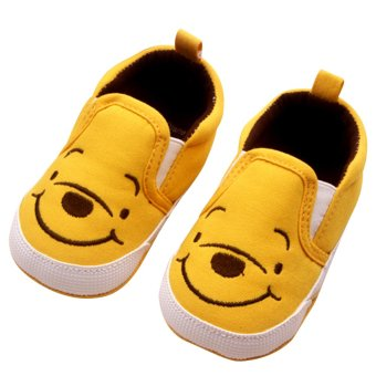 Baby Boy Girls Shoes Kids First Walkers Cute Yellow Bear 0-12 months Yellow S