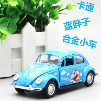 Harga 3 open the door warrior car alloy car model car toys for children cartoon doraemon blue fat beetle exquisite gift