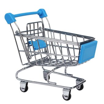 Harga Mini Shopping Cart Trolley Toy Sky Blue (EXPORT)