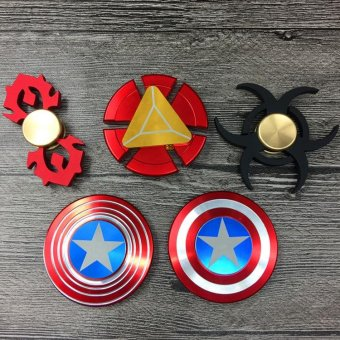 Harga FG15C Comic and Animation Toy Comic Aluminum America Captain Hand Spinner Toy of The Avengers - intl