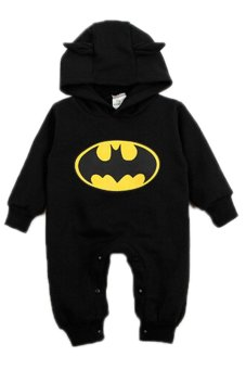 Harga Cocotina Cute Newborn Boy Clothing Baby Batman Print Hoodies Infant Romper Playsuit (Black)