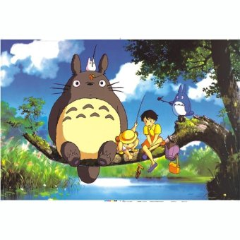 Asuwish Wooden puzzle 1000 piece Totoro fishing 900g 750*500*2.3mm - intl