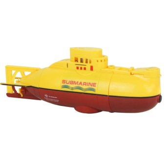 Harga LoveSport Mini Micro RC R/C Radio Remote Control Sub Boat Submarine Toy (Yellow)