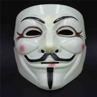 Harga Halloween V Mask For Vendetta Mask Anonymous Guy Fawkes Fancy Dressadult Costume Accessory - intl