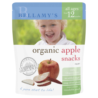 Harga Bellamy's Organic Organic Apple Snacks