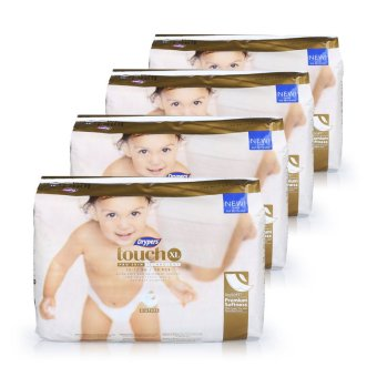 Drypers Touch Diapers XL (12-17kg) 30pcs x 4 packs