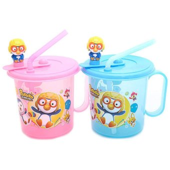 Harga Pororo The Little Penguin, Straw Cup, (Pink)