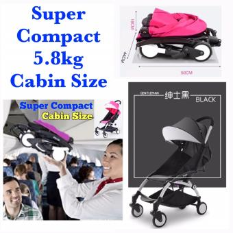 Harga Super Compact Cabin Size Topbi Bibi Love (Similar to Yoyo Yoya Kiddopotamus Design & Feature) Stroller / Pram 5.8kg - Black