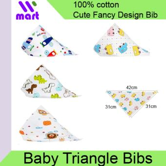 Harga 5pcs Baby Triangle Bibs Cotton Scarf