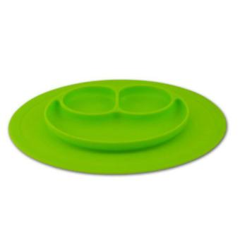Harga One-Piece Smile Silicone Child Kids Safe Baby Food Divided Bowl Placemat - intl