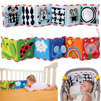 Harga Double Sided Baby Cloth Book Crib Books Clip On Pram Cot Lear Baby Toys Mobiles Toy Readings Cloth Books - intl
