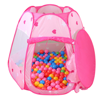Harga Castle Tent Indoor and Outdoor Kids Children Game Play Toys Pop Up Games Pink - intl