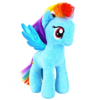 "Harga 7"" My Little Pony Horse Figures Stuffed Plush Soft Doll Toy Gift Rainbow Dash (Good)"