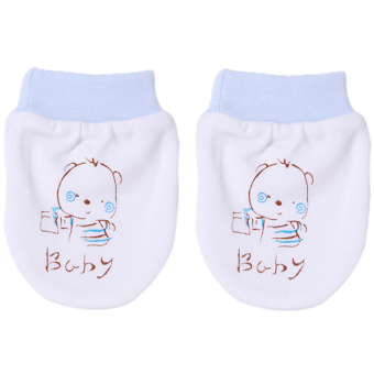 Harga Hanyu Baby Newborn Small Baby Gloves Blue