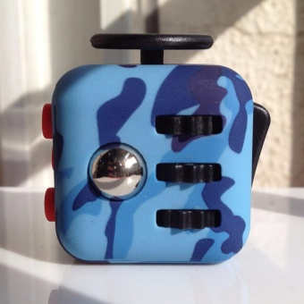 Camouflage Pattern Fidget Cube Toy Magic Anti-anxiety Adults Stress Relief Kids Gift - intl