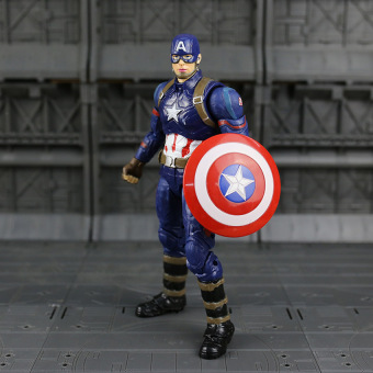Harga Marvel Captain America Civil Captain Pvc Action Figure Collectiblemodel Toy - intl