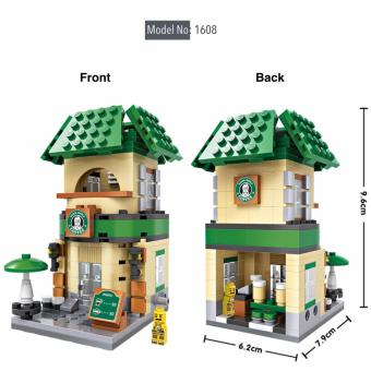 Harga Loz 1608 Street Mini Blocks Coffee Store Street Shop Diamond Nano Bricks Building Micro Blocks Creative Gift or Collectible for All Ages