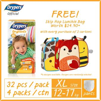 Harga 2 Cartons of Drypers Drypantz XL [FREE Skip Hop Zoo Lunchie Bag]