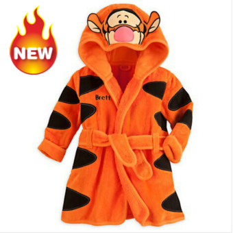 Harga Baby Bathrobe Children Pajamas Baby Homewear Orange