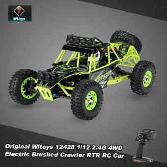 Harga Original Wltoys 12428 1/12 2.4G 4WD Electric Brushed Crawler RTR RC Car - intl