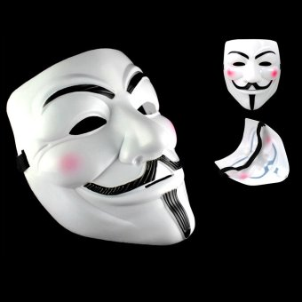 IBERL V for Vendetta Mask Anonymous Guy Fawkes Fancy Dress Fancy Costume Ccosplay (White) - intl