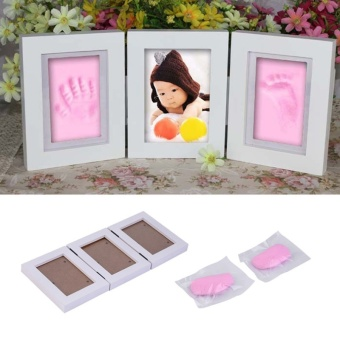 Harga Handprint Footprint Soft Clay Picture Frame-pink - Intl