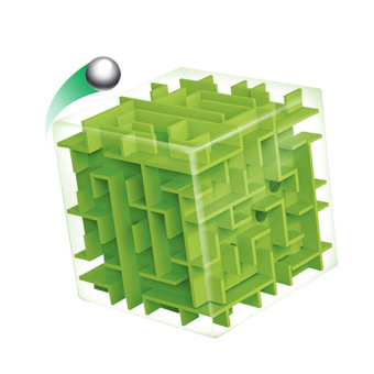 Harga Magic 3D Cube Maze Labyrinth Rolling Ball Toys (green)