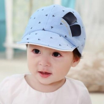 Harga Bear Fashion Baby Smile Face Girls Boys Hats Caps - intl