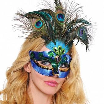 Harga leegoal Peacock Feathers Mask For Masquerade Costume Party Halloween Cosplay Venetian Mask - intl