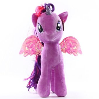 My Little Pony pony Baoli rainbow plush toy doll(purple) - intl