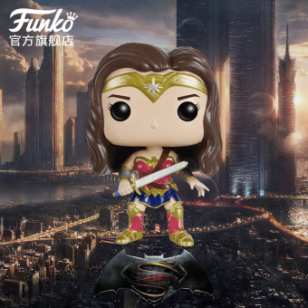 Harga Funko pop DC Batman vs. Superman Wonder Woman hand to do ornaments doll car model