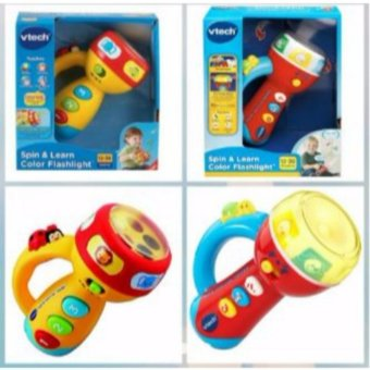 Harga Vtech Spin & Learn Flashlight (Red & Blue)