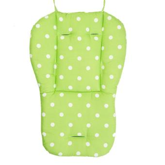 Harga Washable Soft Stroller Carseat Padding Pram Baby Pushchair Dots Printing Liner Chair Pad- green - intl