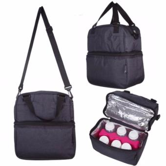 Harga Breast pump / Breast milk / Food storage Posh Cooler bags (Oxford Black) * Breastmilk storage bag bottle use