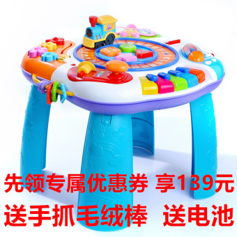 Harga Bilingual english study tables fun years old baby toys infants and young children multifunctional music game table holiday gifts