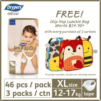 Harga 2 Cartons of Drypers Touch XL [FREE Skip Hop Zoo Lunchie Bag]