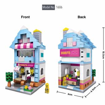 Harga Loz 1606 Street Mini Blocks Donuts Store Street Shop Diamond Nano Bricks Building Micro Blocks Creative Gift or Collectibles for All Ages