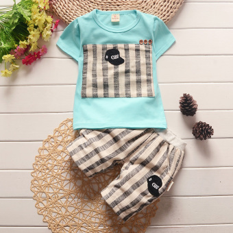 Harga Male children's clothing FEMALE baby summer baby child 0 clothes 1 and young children 4 summer 3 year old short-sleeved 2 set 4 Years Old tide