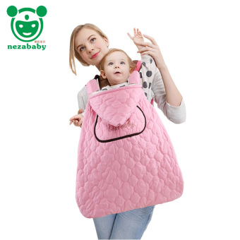 Harga Pink Cotton Padded Baby Swaddle Baby Carrier Cloak Cape Autumn Winter Baby Carrier Sling Cover BD07