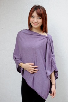 Harga Nursing Breastfeeding Cover / Poncho / Wrap / Shawl - Plush periwinkle
