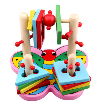 Harga Set column building blocks wooden baby toys young sidel skills of 3d game