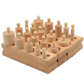 Harga Baby male and female infants and young children wooden blocks educational toys montessori cylinder force year old half
