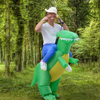 Inflatable Adult Dinosaur Party Costume Dino Rider Outfits Halloween Dress