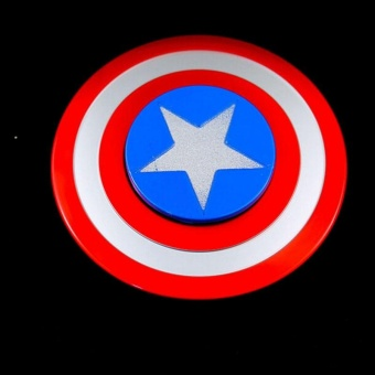 Harga Captain America Shield Tri Fidget Hand Spinner Alloy Relieve EDC ADHD Toy - intl
