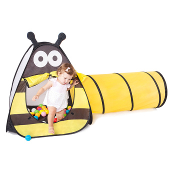 Cute Animals Baby Play Tent with Tunnels For Kids Room Easy Folding Children Play House Bee - Intl