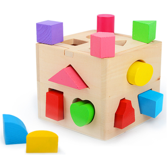 Harga Thirteen holes 13 holes intelligence box shape matching blocks housing 123 years old baby early childhood educational toys for infants and young children
