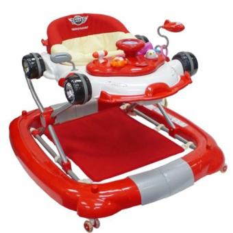 Harga Baby Ace 4 in 1 function baby walker (Red)